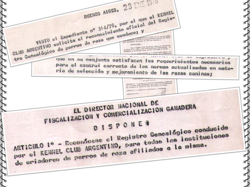 Oficialidad del KCA 1978 fondo