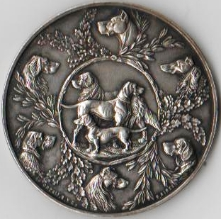 medalla asociacion canina de buenos aires frente