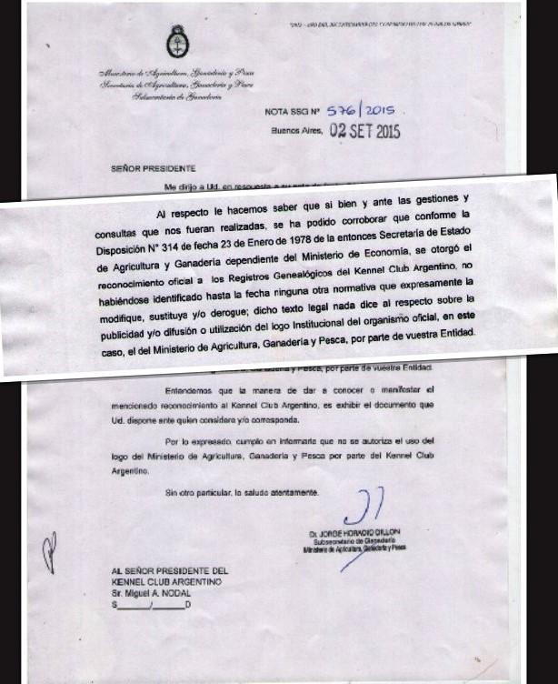 El MAGyP ratifica la Oficialidad del KCA, válida 2015