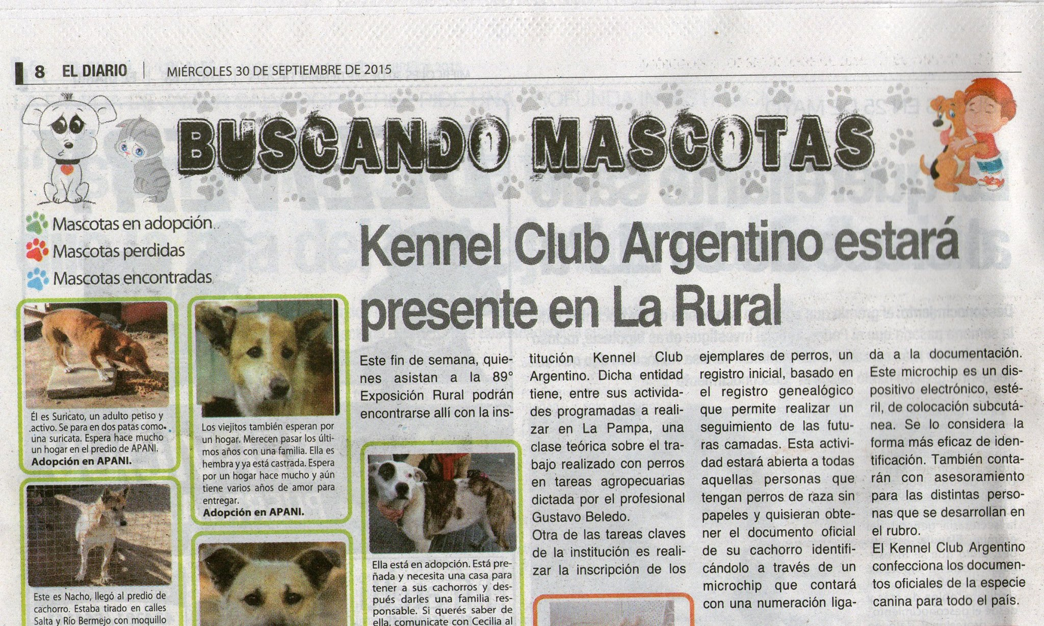 El Kennel Club en Santa Rosa, periodico el diario