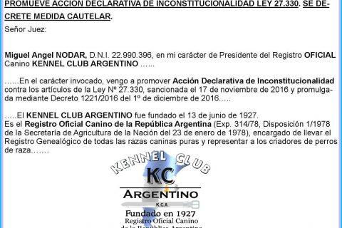 Comunicado OFICIAL Acción Judicial